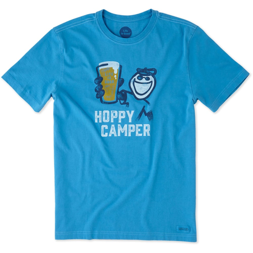 LIFE IS GOOD Men's Hoppy Camper Crusher Short-Sleeve Tee - MARINA BLUE
