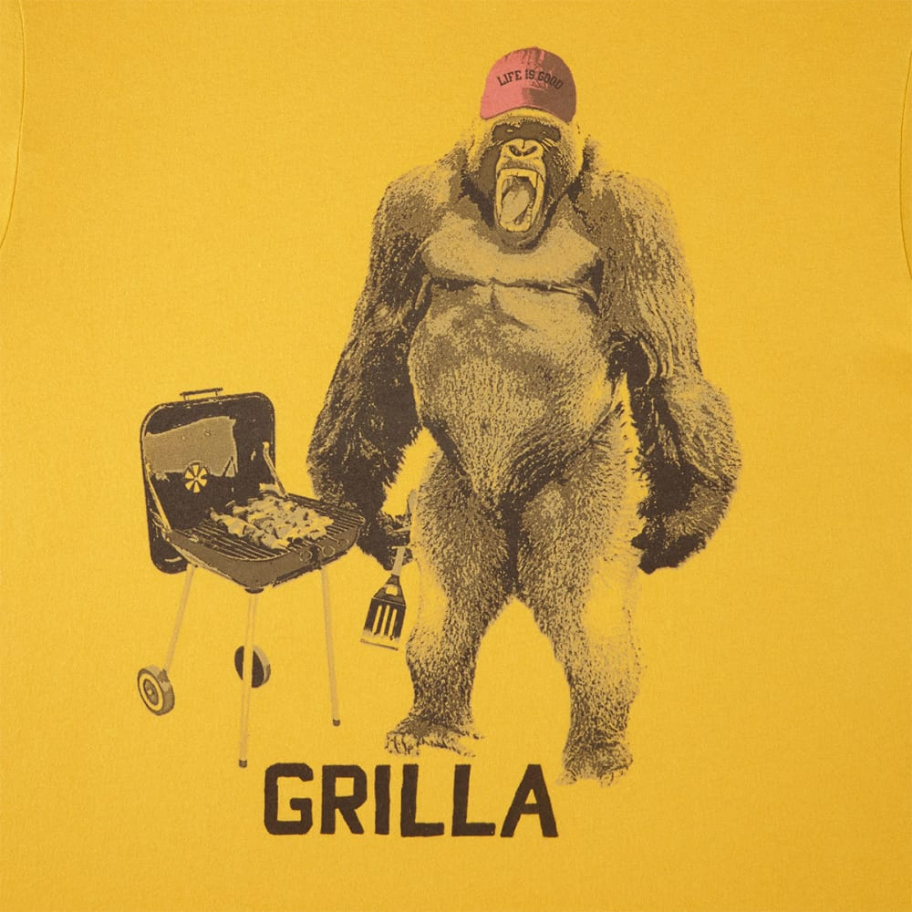 LIFE IS GOOD Men's Grilla Gorilla Smooth Tee - SUMMER GOLD