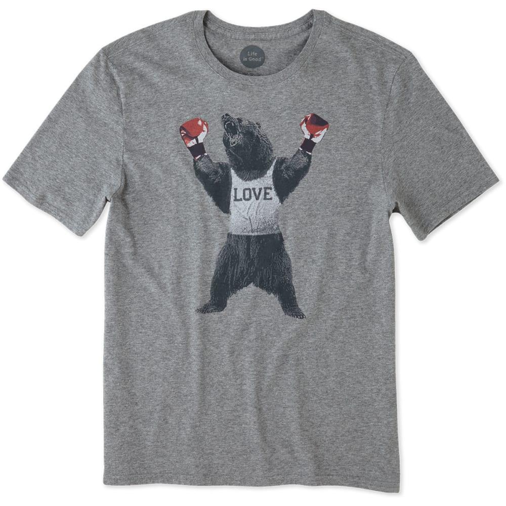 LIFE IS GOOD Men's Bear Boxer Smooth Tee - HEATHER GREY