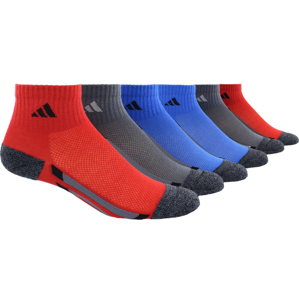 ADIDAS Boys' Quarter Length Socks, 6-Pack M