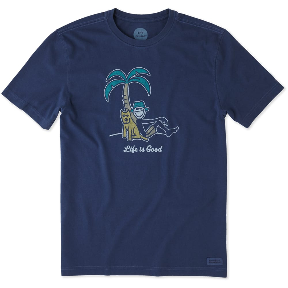 LIFE IS GOOD Men's Palm Tree Crusher Short-Sleeve Tee - DARKEST BLUE