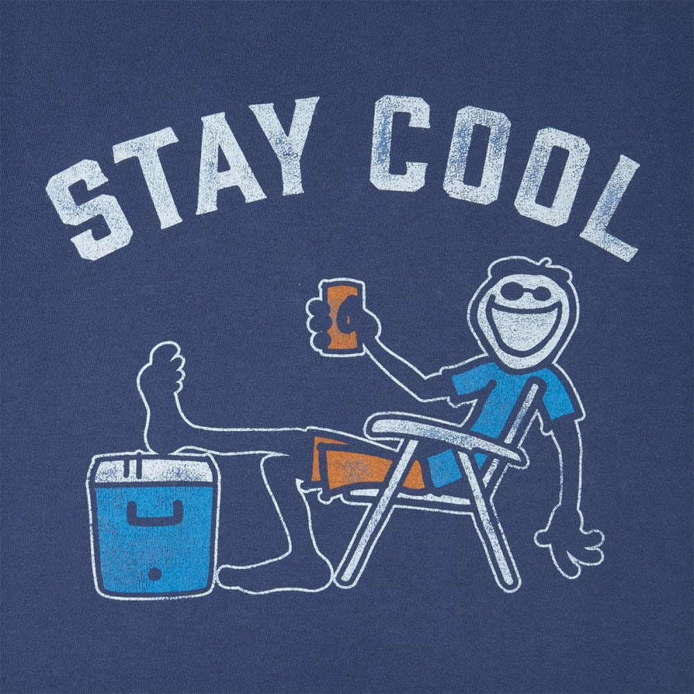 LIFE IS GOOD Men's Stay Cool Crusher Short-Sleeve Tee - DARKEST BLUE