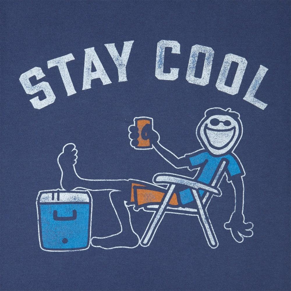 LIFE IS GOOD Men's Stay Cool Crusher Short-Sleeve Tee - DARKEST BLUE