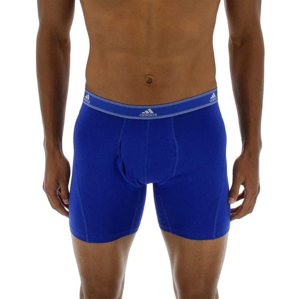 ADIDAS Men's Relaxed Perf Stretch Cotton Boxer Briefs, 2 Pack - BOLD BLUE/NAVY