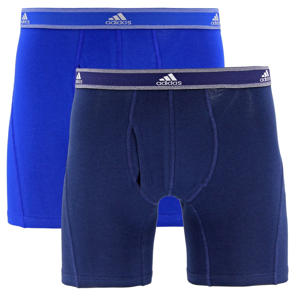 ADIDAS Men's Relaxed Perf Stretch Cotton Boxer Briefs, 2 Pack S