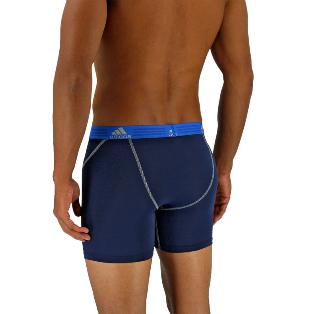 ADIDAS Men's Sport Performance Climalite Boxer Briefs, 2 Pack - NIGHT INDIGO/ONIX