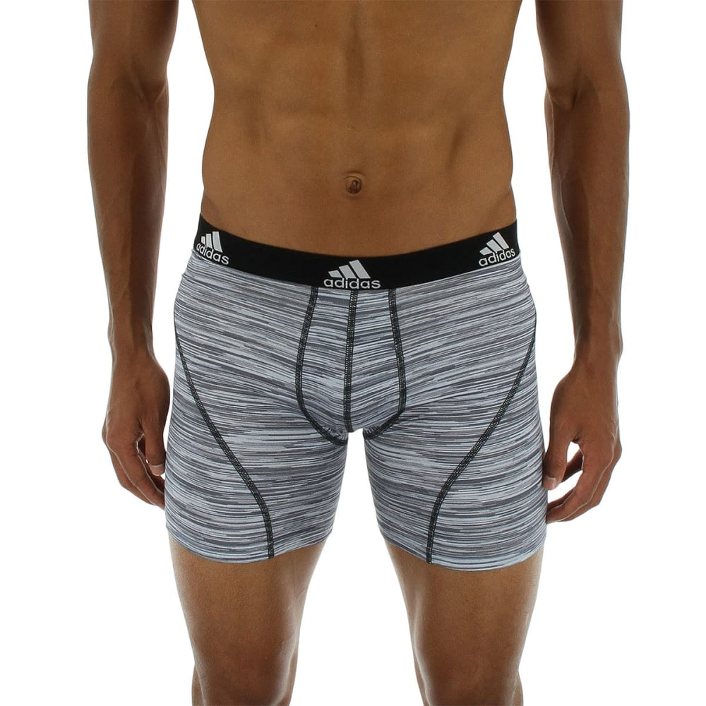 ADIDAS Men's Sport Performance Climalite Graphic Boxer Briefs, 2 Pack - GRY LOOPER/BLK