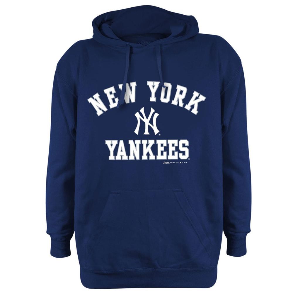NEW YORK YANKEES Men's Name And Logo Fleece Hoodie - NAVY
