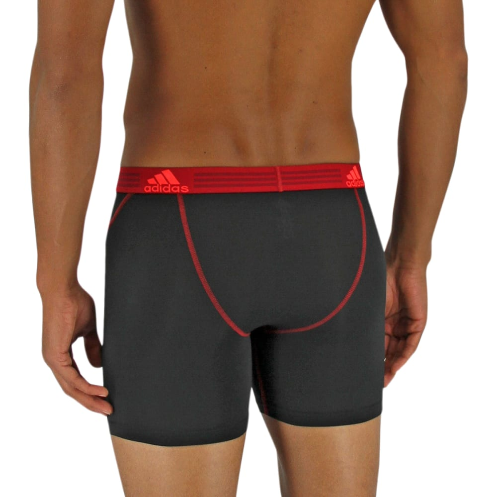 ADIDAS Men's Sport Performance Climalite Boxer Briefs, 2 Pack - BLACK/RED