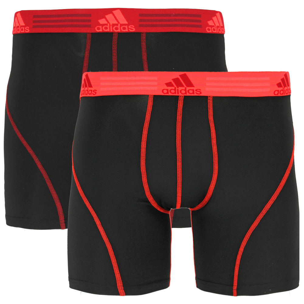 Adidas Men's Sport Performance Climalite Boxer Briefs, 2 Pack - Black, S