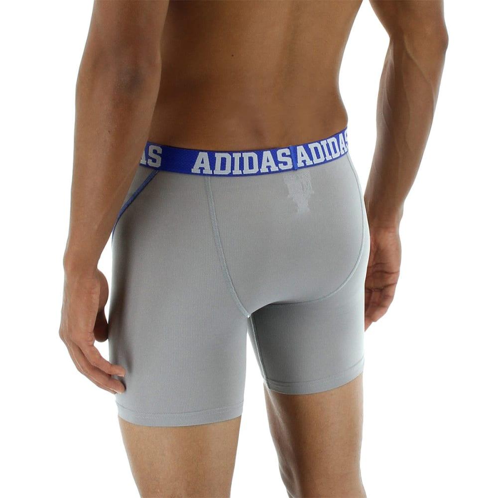 ADIDAS Men's Sport Performance Climacool Boxer Briefs, 2 Pack - LT ONIX/NIGHT GREY
