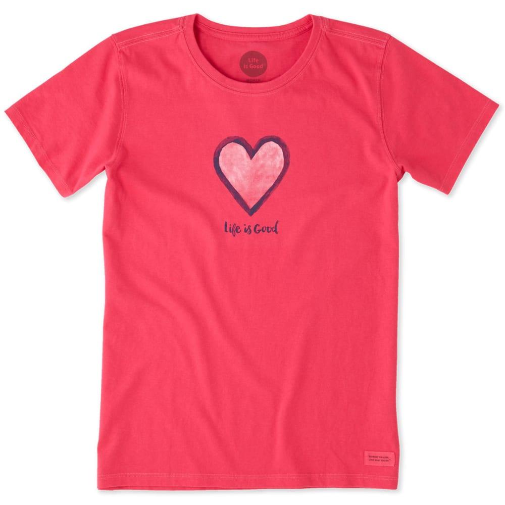 LIFE IS GOOD Women's Heart Crusher Short-Sleeve Tee - POP PINK