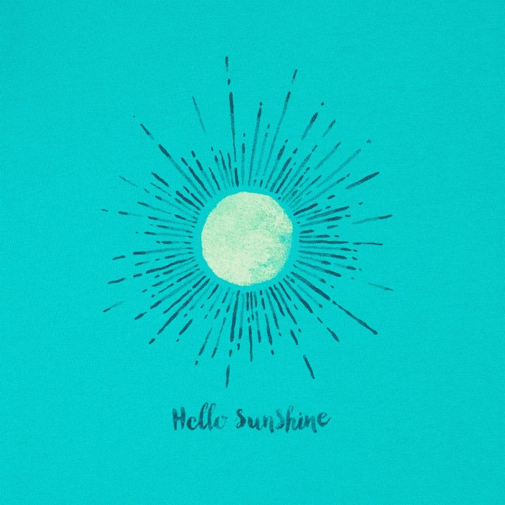 LIFE IS GOOD Women's Hello Sunshine Crusher Short-Sleeve Tee - BRIGHT TEAL