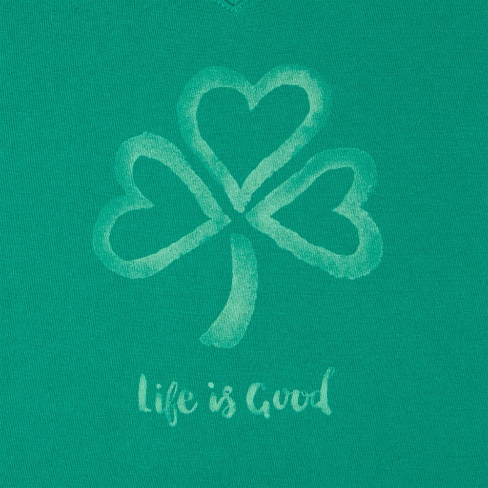 LIFE IS GOOD Women's Crusher Short-Sleeve Tee - JUNGLE GREEN