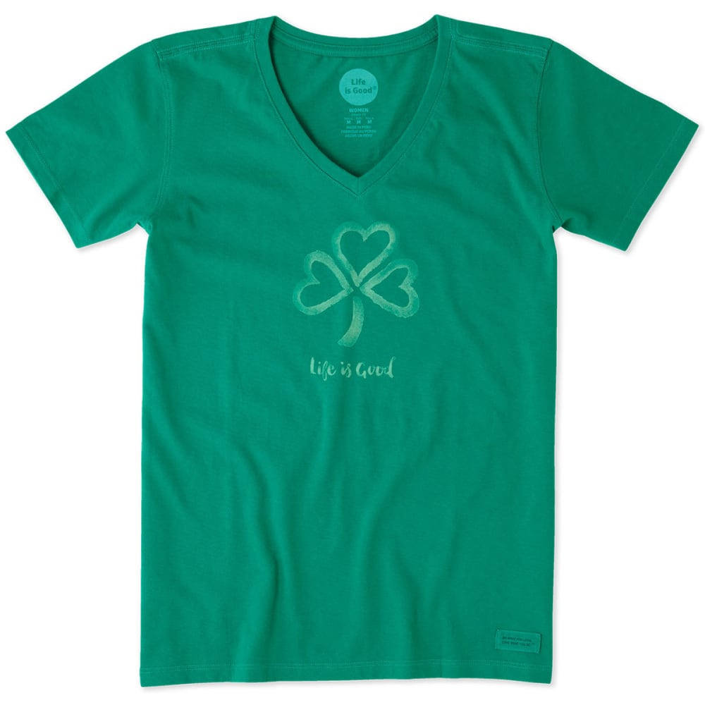 LIFE IS GOOD Women's Crusher Short-Sleeve Tee - JUNGLE GREEN