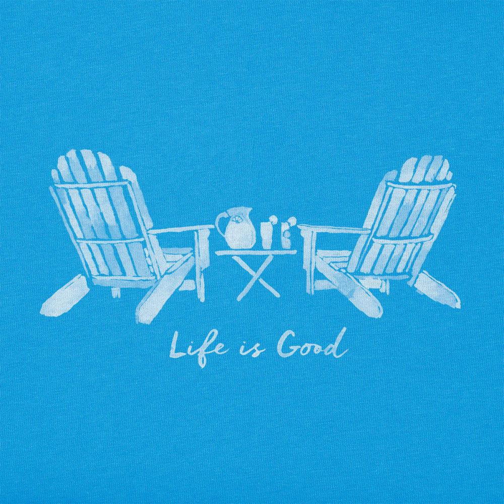 LIFE IS GOOD Women's Adirondak Chairs Crusher Vee - TILE BLUE