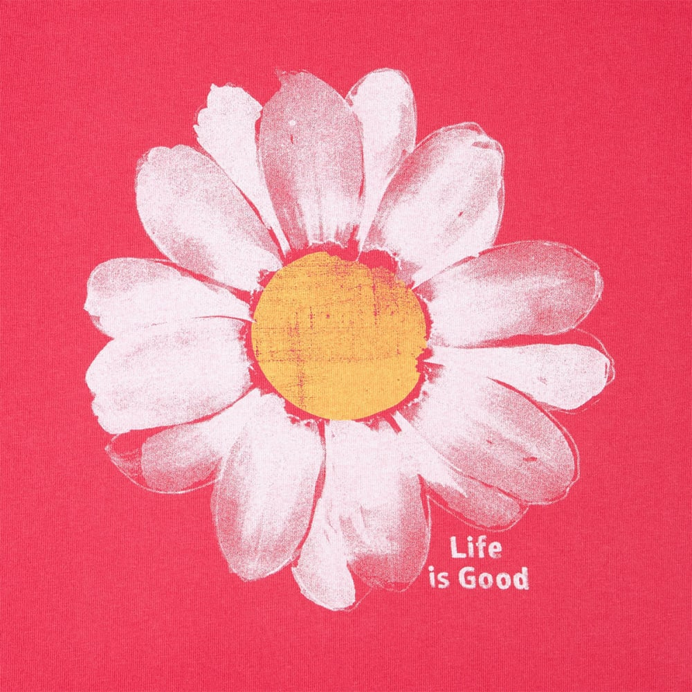 LIFE IS GOOD Women's Daisy Crusher Tee - POP PINK