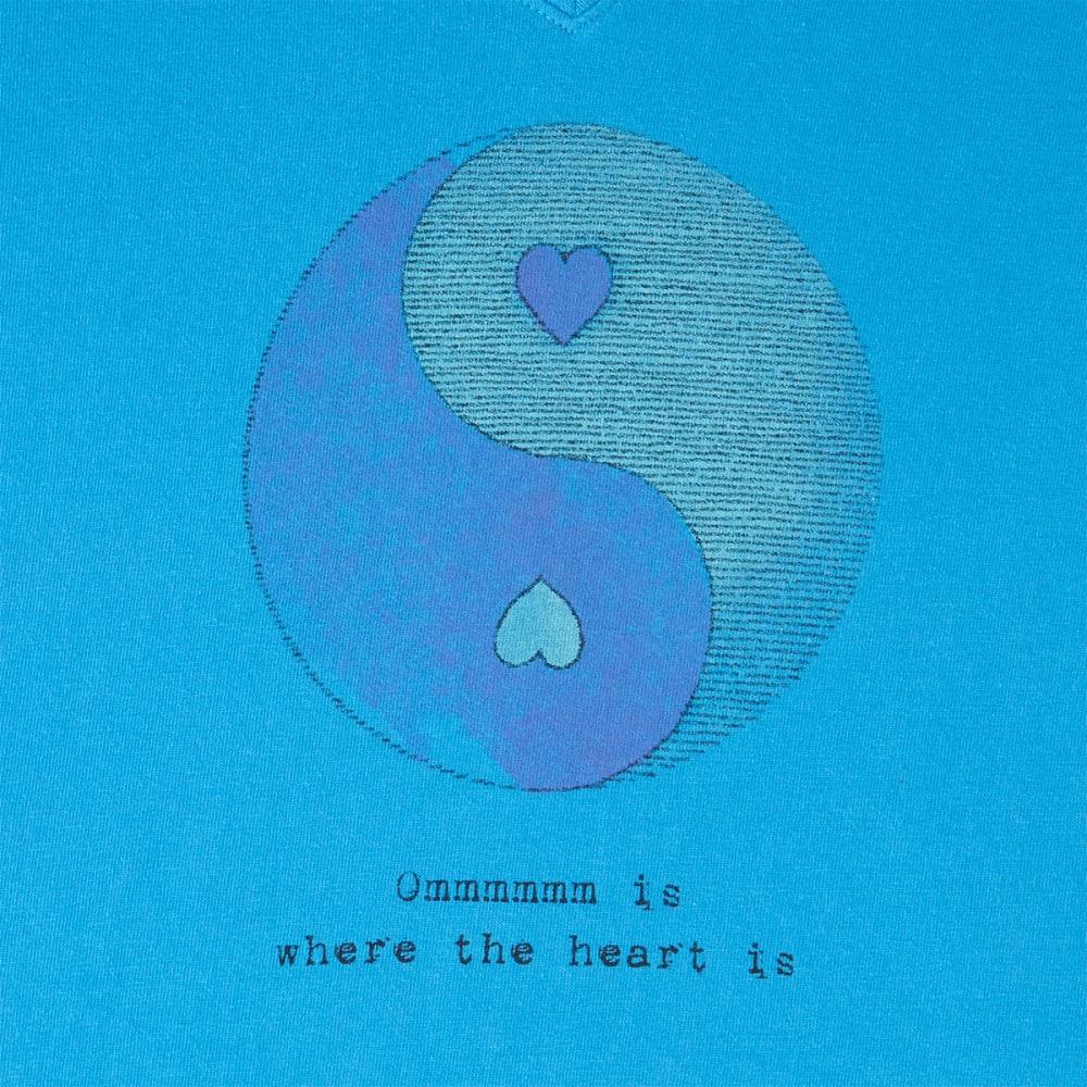 LIFE IS GOOD Women's OM Ying Yang Crusher Vee - TILE BLUE