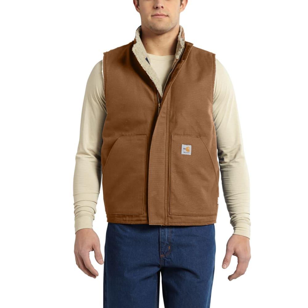 CARHARTT Flame-Resistant Mockneck Vest - CARHARTT BROWN
