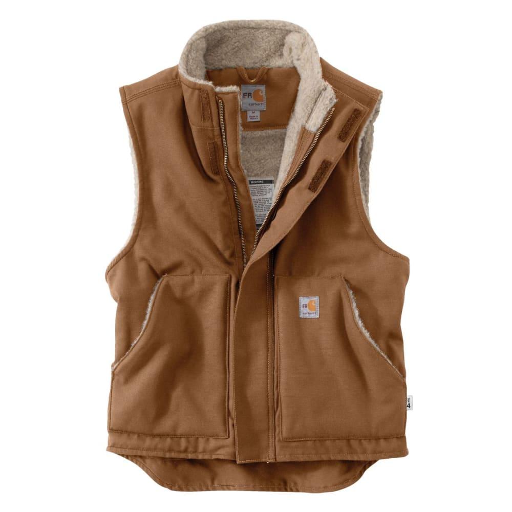 CARHARTT Flame-Resistant Mockneck Vest, Extended Sizes - CARHARTT BROWN