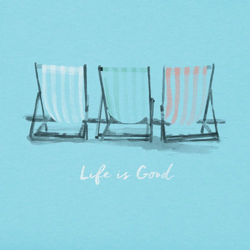LIFE IS GOOD Women's Beach Chairs Crusher V-Neck Tee - FRESH BLUE