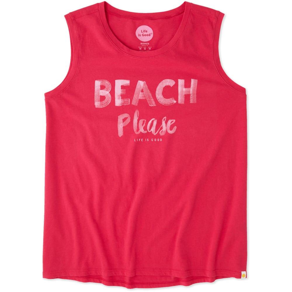 LIFE IS GOOD Women's Beach Please Muscle Tee - POP PINK