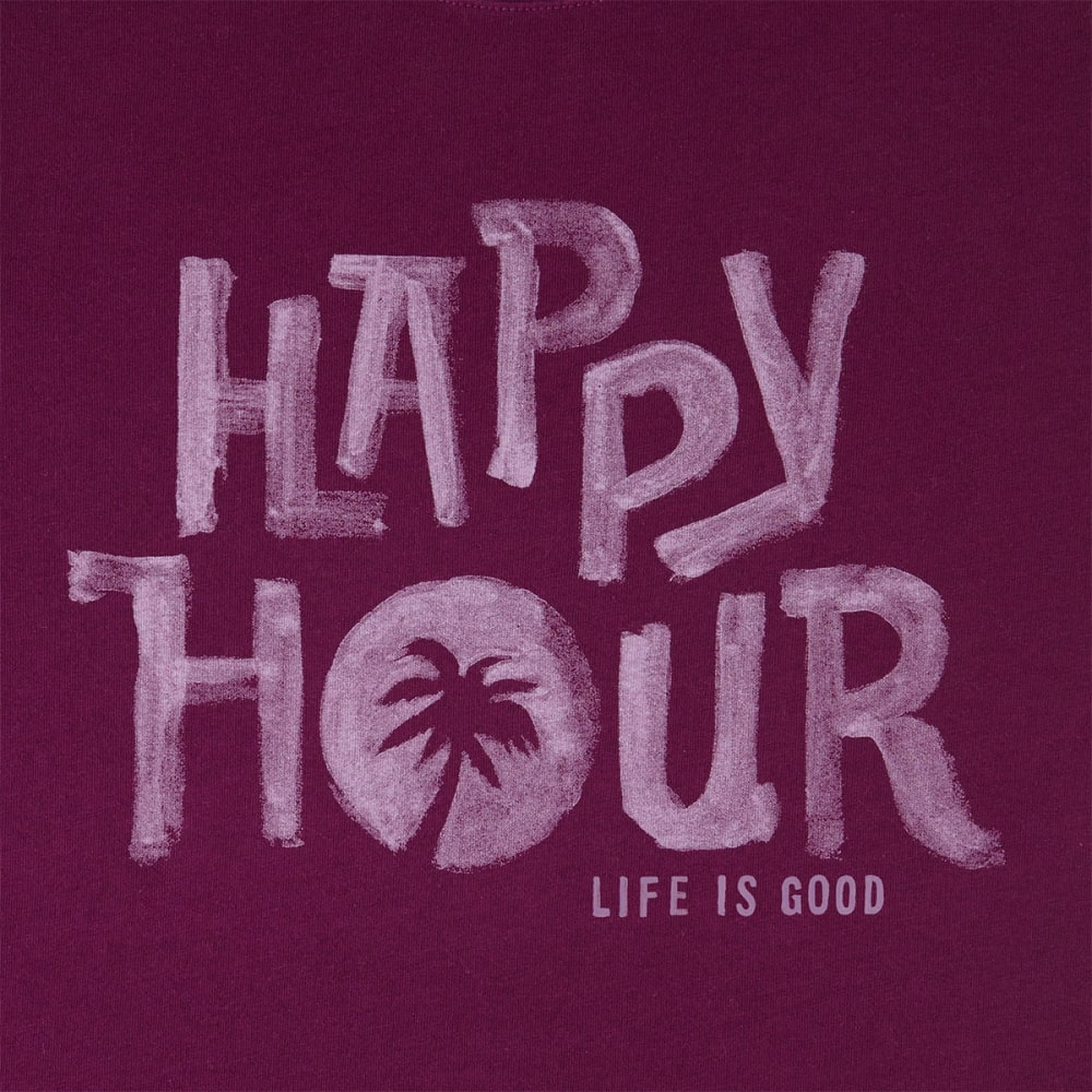 LIFE IS GOOD Women's Happy Hour Muscle Tee - DEEP PLUM