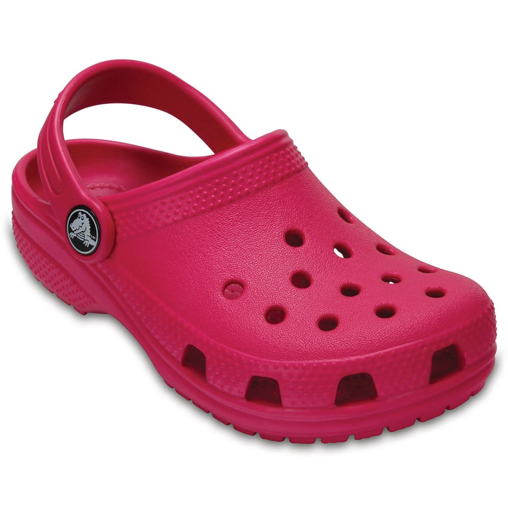 Crocs Girls Classic Clogs, Candy Pink - Red, 1