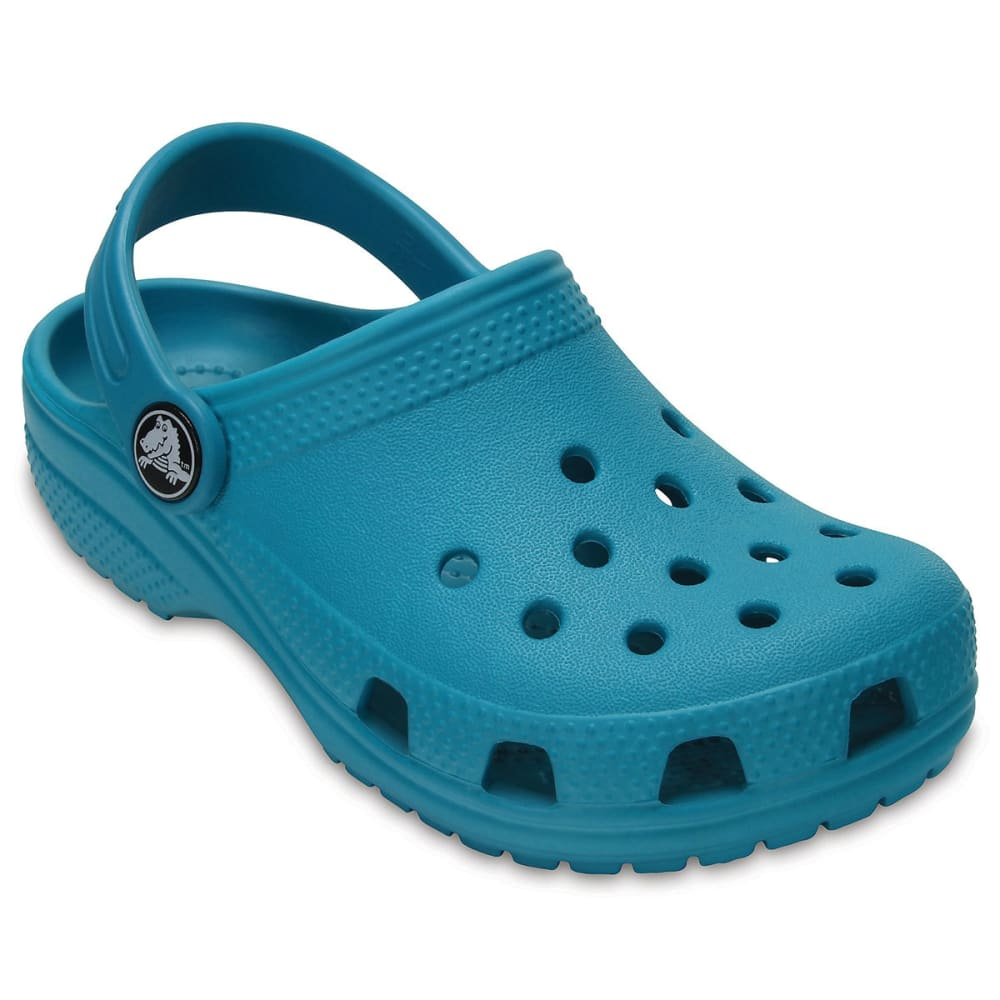 Crocs Kids Classic Clogs, Turquoise - Blue, 1