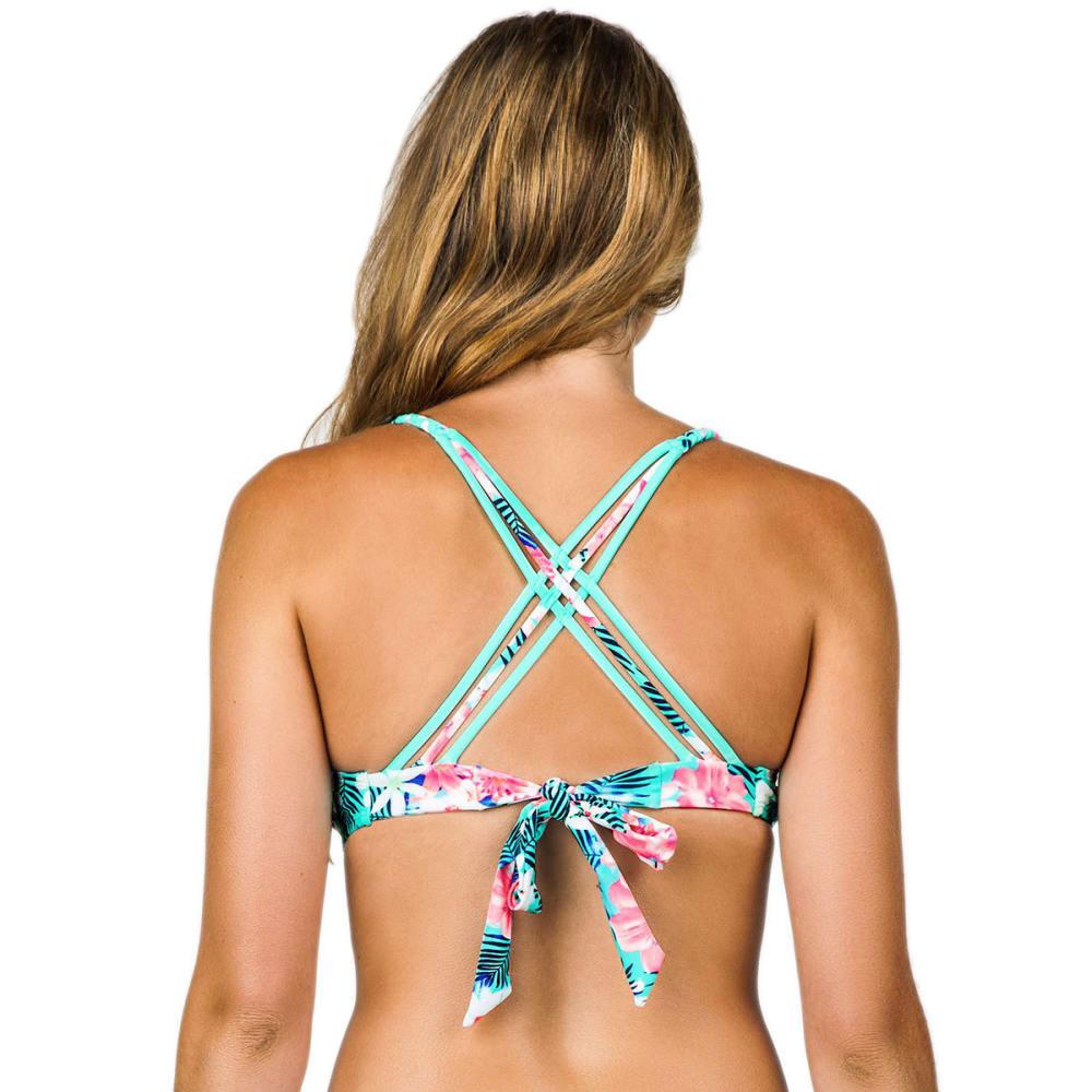 ISLAND SOUL Juniors' Tropicana Braided Bralette Bikini Top - MINT