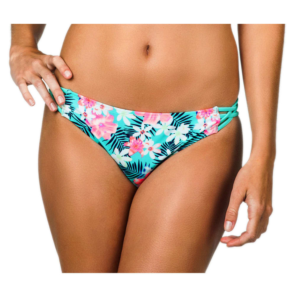 ISLAND SOUL Juniors' Tropicana Strappy Bikini Bottoms - MINT