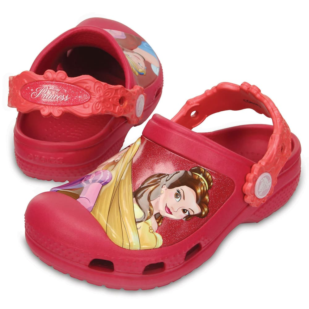 CROCS Girls' Dream Big Princess Clogs, Raspberry - RASPBERRY