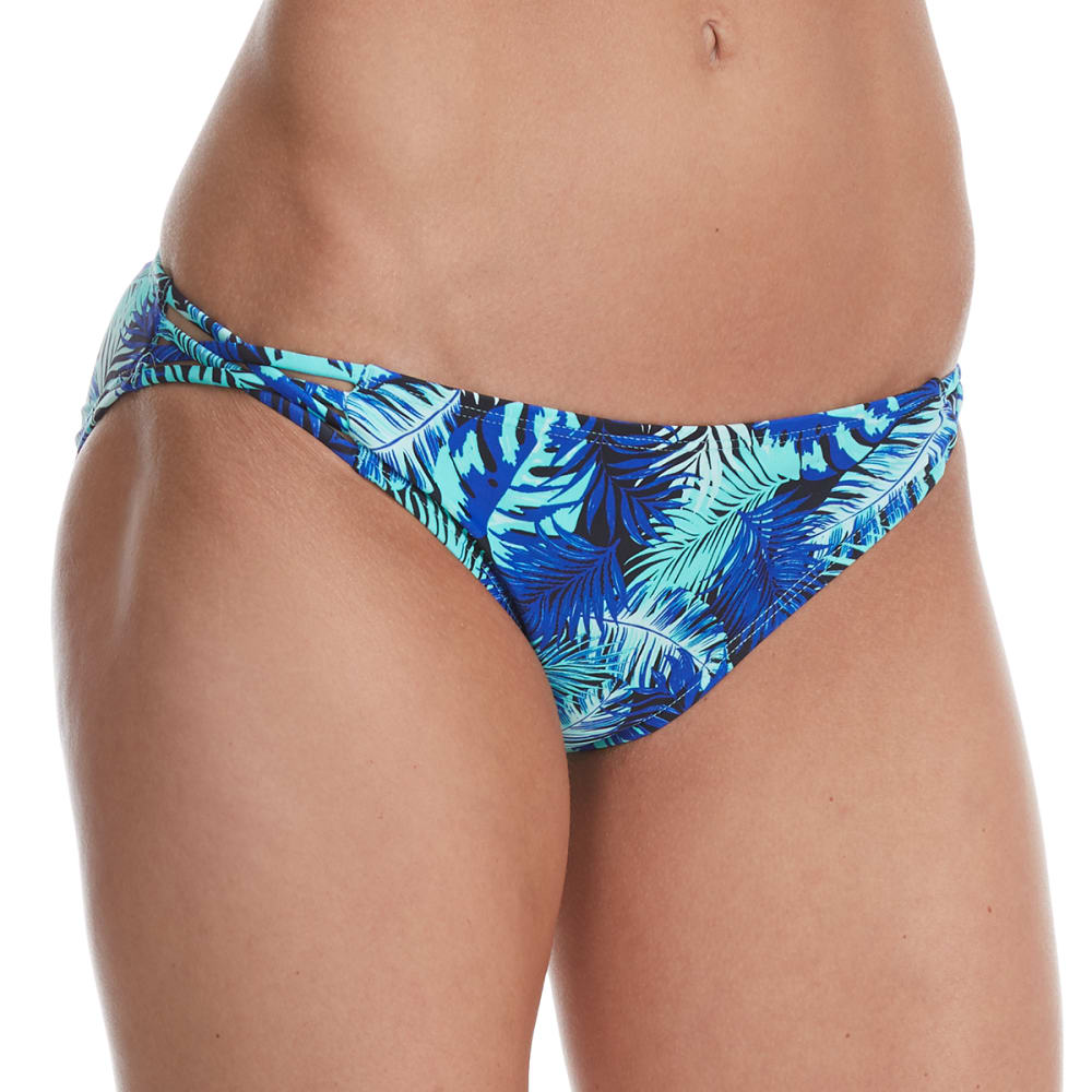 ISLAND SOUL Juniors' Palm Beach Strappy Bikini Bottom - MULTI