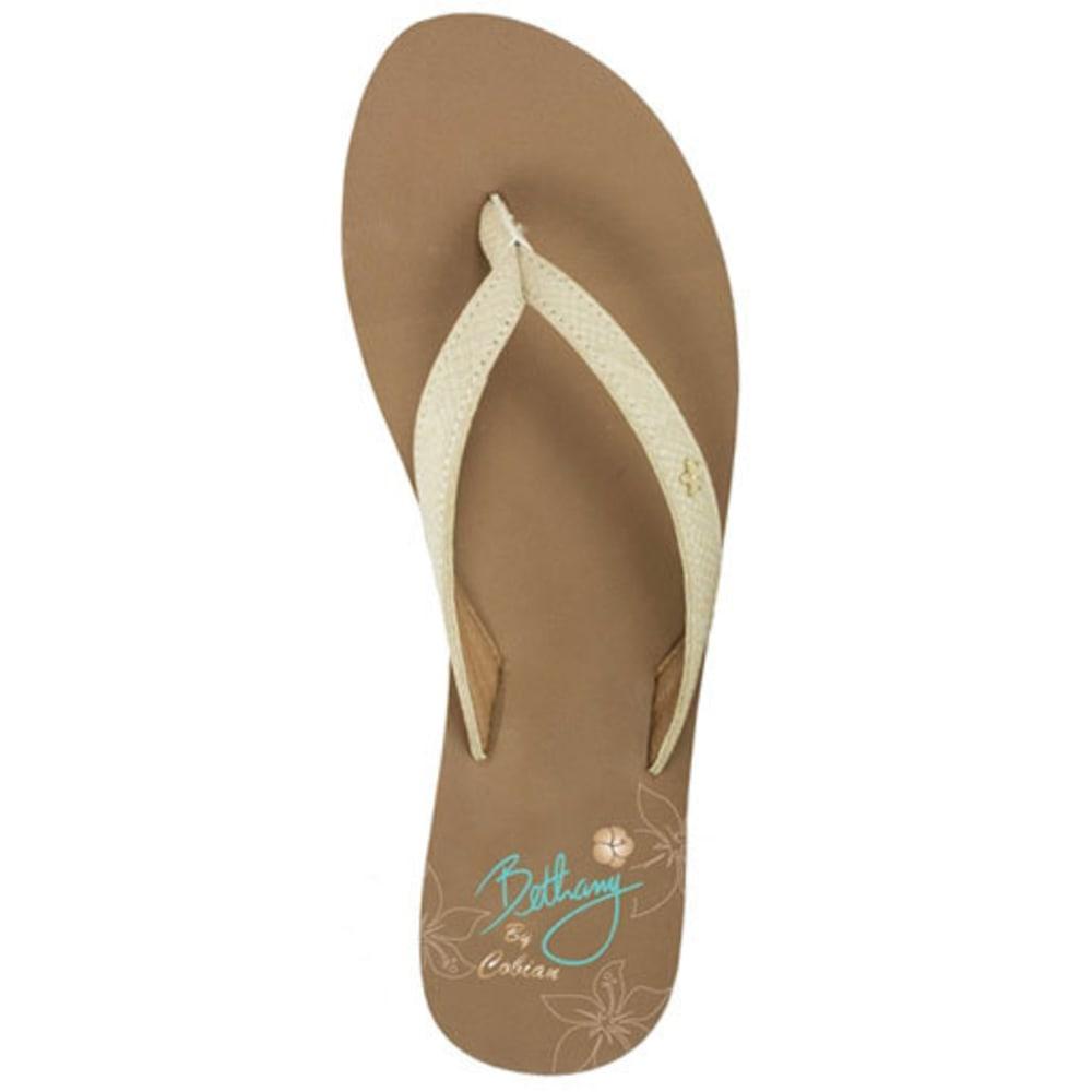 Cobian Women's Hanelei Flip-Flops, Nude - White, 6