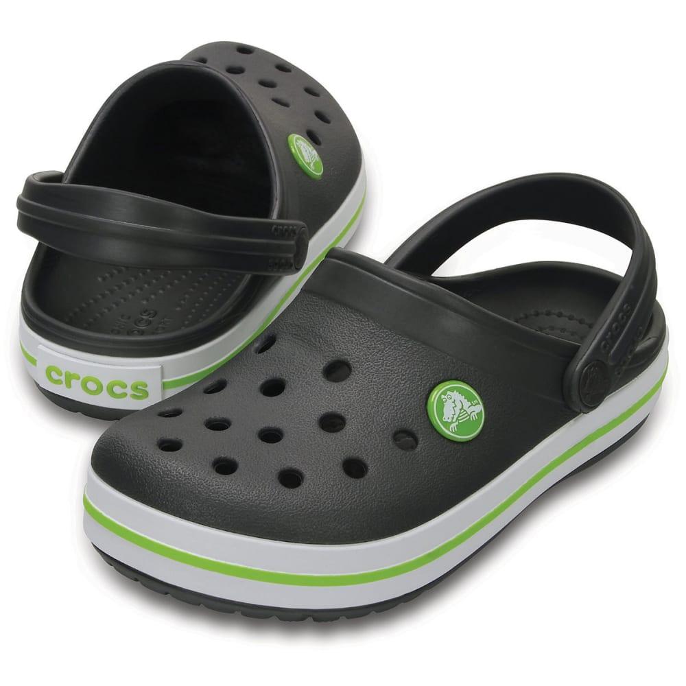 CROCS Boys' Crocband Clogs, Graphite/Volt Green - GRAPHITE/VOLT -0A1