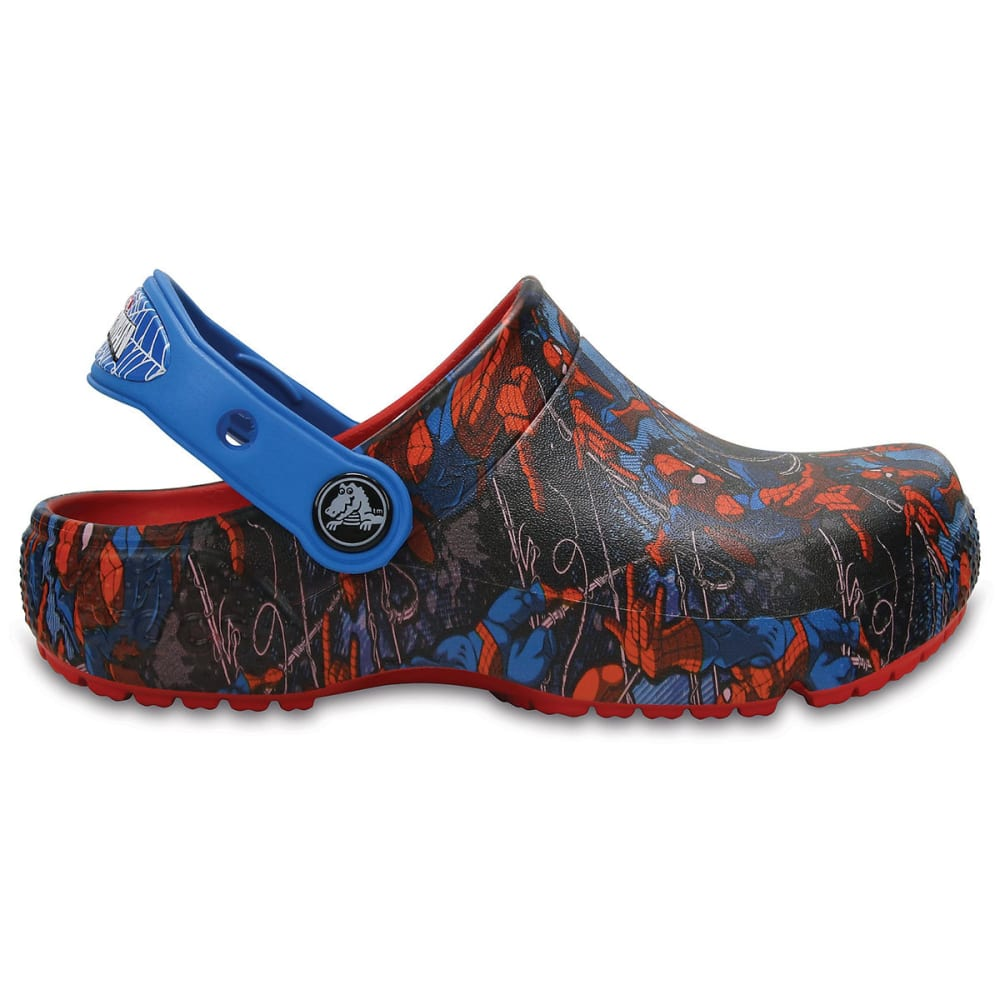 CROCS Boys' Fun Lab Spider-Man Clogs - NAVY