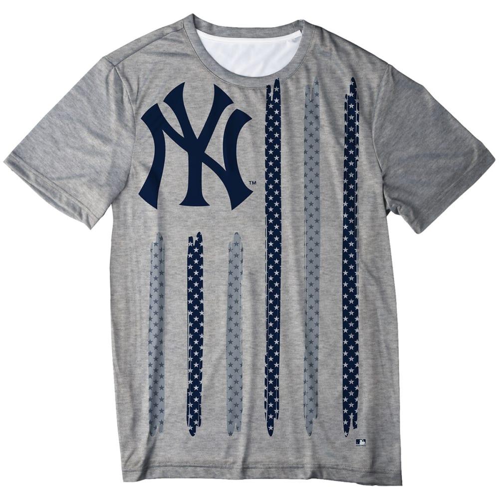 NEW YORK YANKEES Men's Big Logo Stars and Stripes Short-Sleeve Tee - GREY