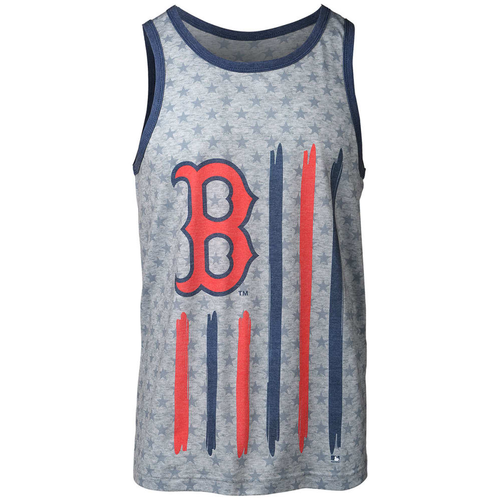 BOSTON RED SOX Men's Big Logo Flag Tank Top - GREY