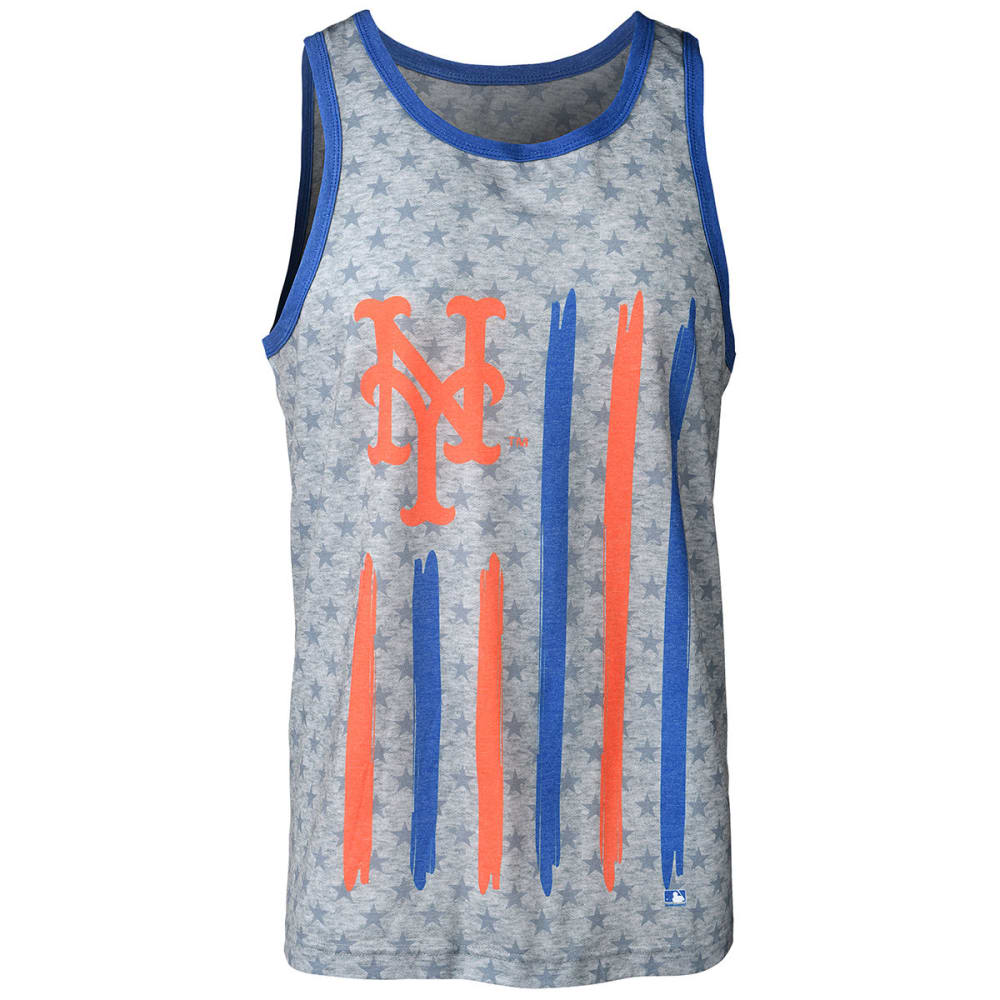 NEW YORK METS Men's Big Logo Flag Tank Top - GREY