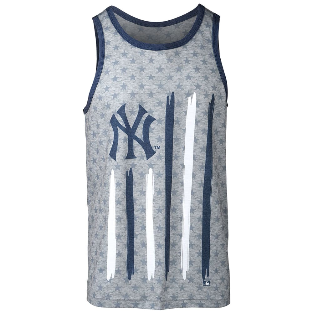NEW YORK YANKEES Men's Big Logo Flag Tank Top - GREY