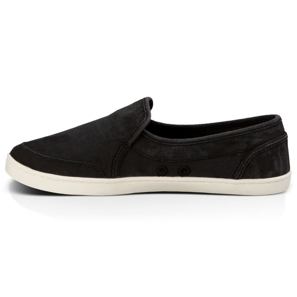 SANUK Women's Pair O Dice Slip-On Shoes, Washed Black - BLACK