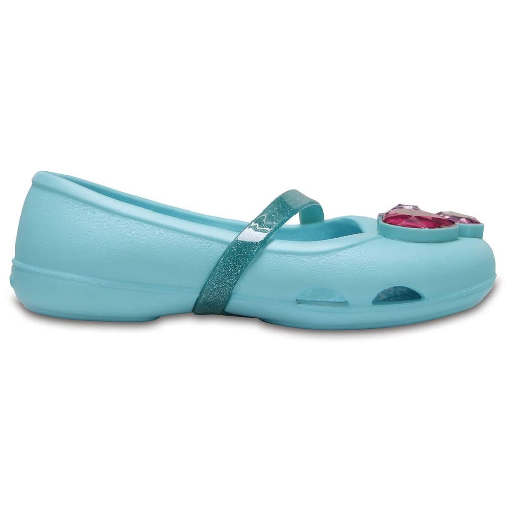 CROCS Girls' Lina Flats, Ice Blue - ICE BLUE