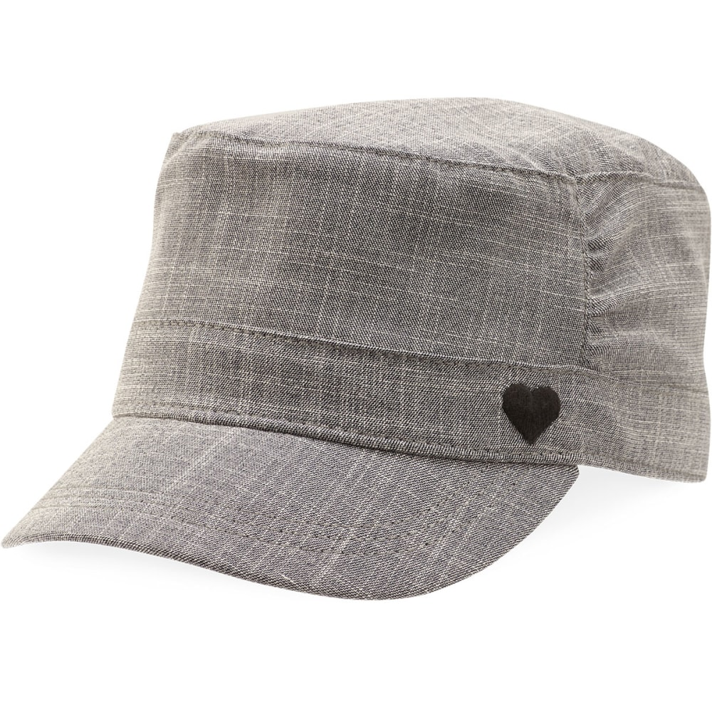 LIFE IS GOOD Juniors' Pleated Cadet  Hat - HEATHER GREY