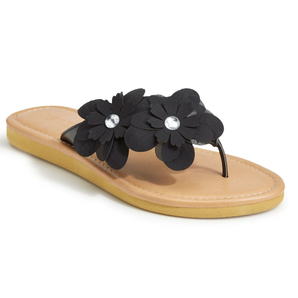 99f769b455b0f9 OLIVIA MILLER Women s Asymmetrical Floral Flip Flops
