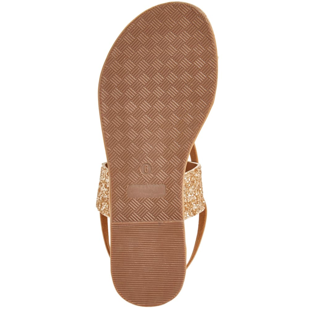 OLIVIA MILLER Women's Glitter Strappy Sandals, Rose Gold - ROSE GOLD