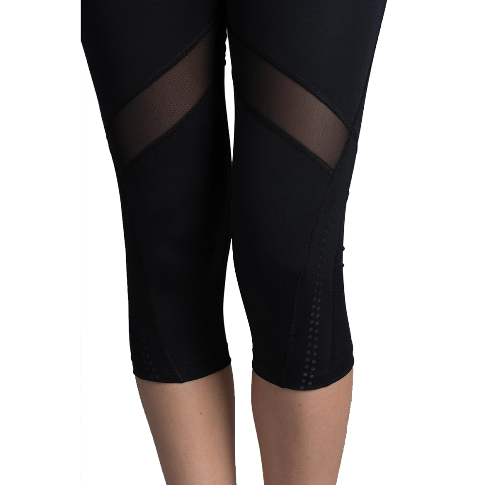 MARIKA Women's Ava Reflex Capri Leggings - BLACK-001
