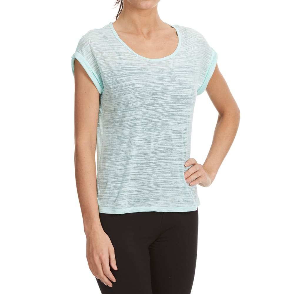 BALANCE COLLECTION BY MARIKA Women's Kimmy Burnout Tee - MINT ECLIPSE-34M