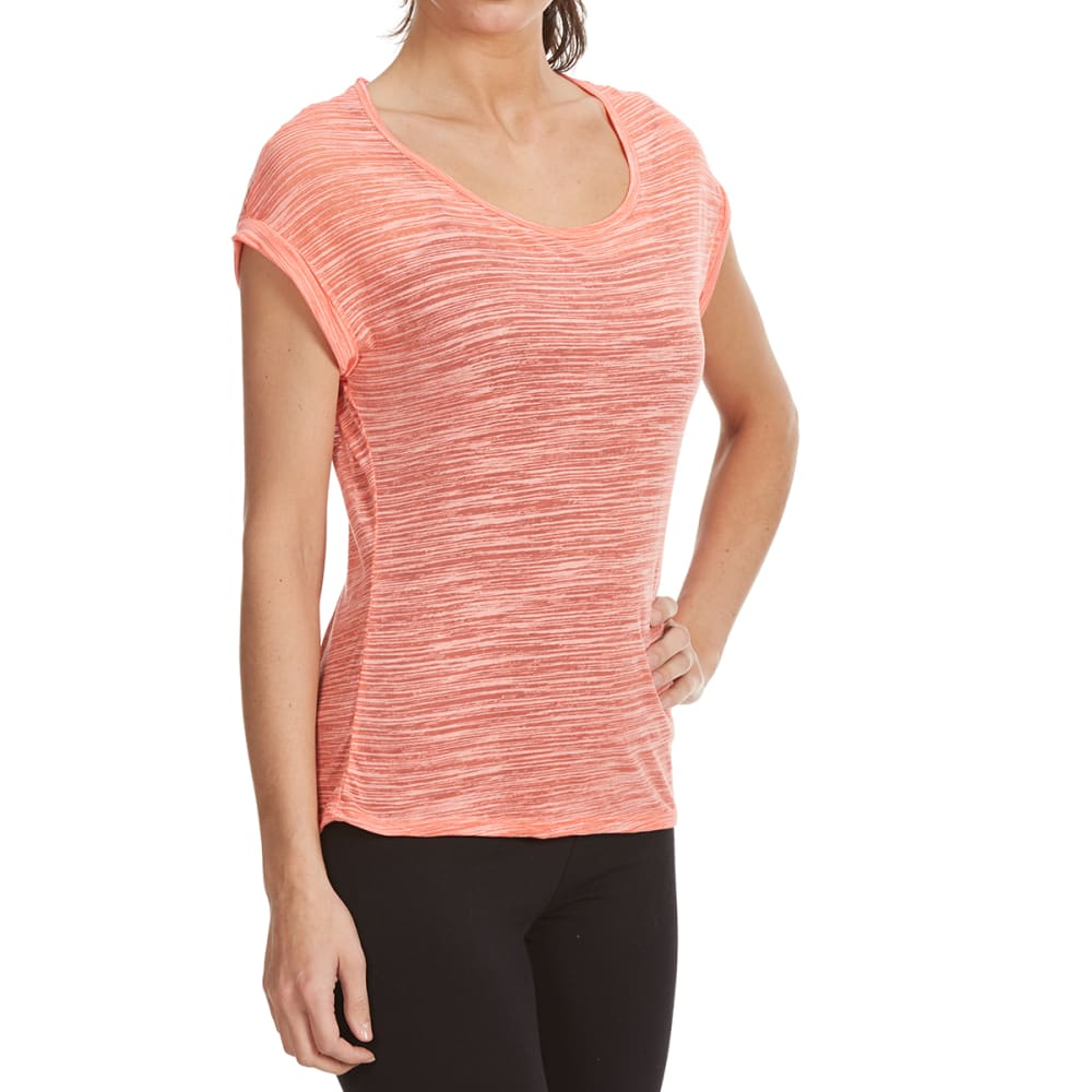 BALANCE COLLECTION BY MARIKA Women's Kimmy Burnout Tee - GEORGIA PEACH-70A