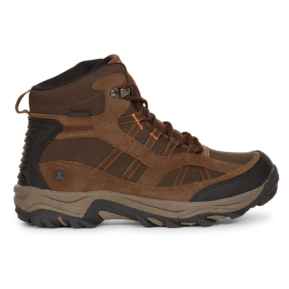 NORTHSIDE Boys' Rampart Mid Waterproof Hiking Boots - MED BROWN
