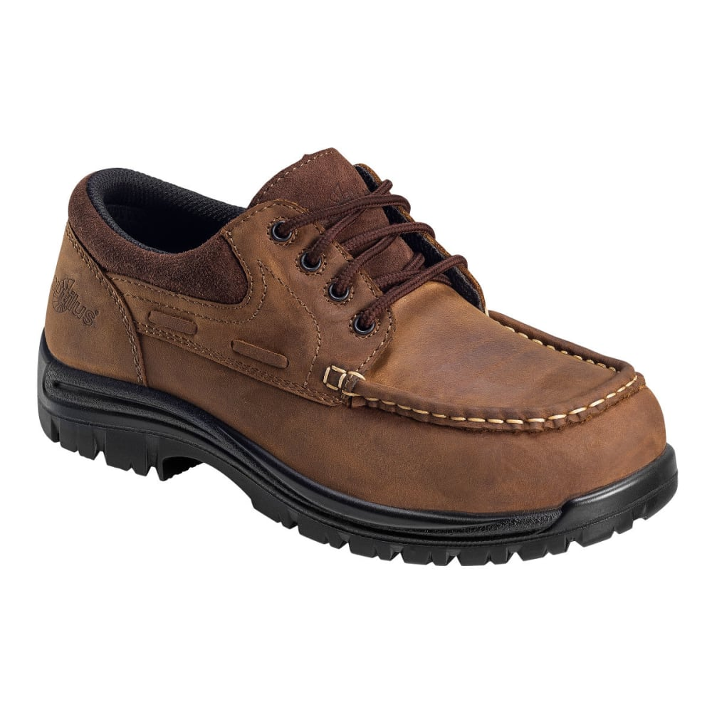 NAUTILUS Composite Toe ECCO Leather Oxford, Wide Width - BROWN